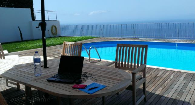 Das Office von Joyce Summer auf Madeira